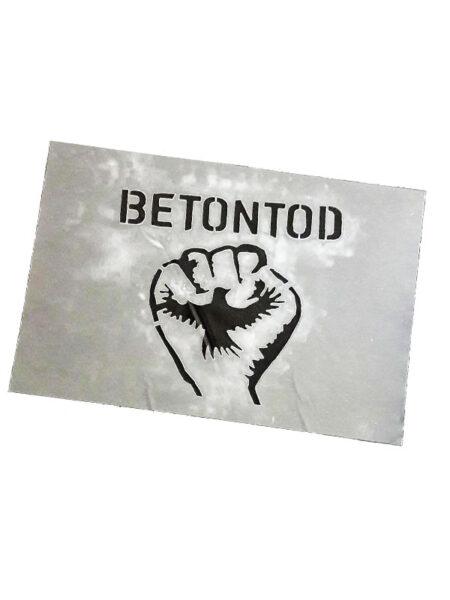 BETONTOD Sprühschablone